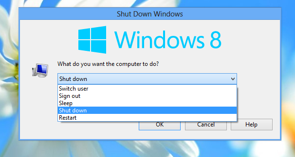 Shut Down Windows dialog for Windows 8 by hb860