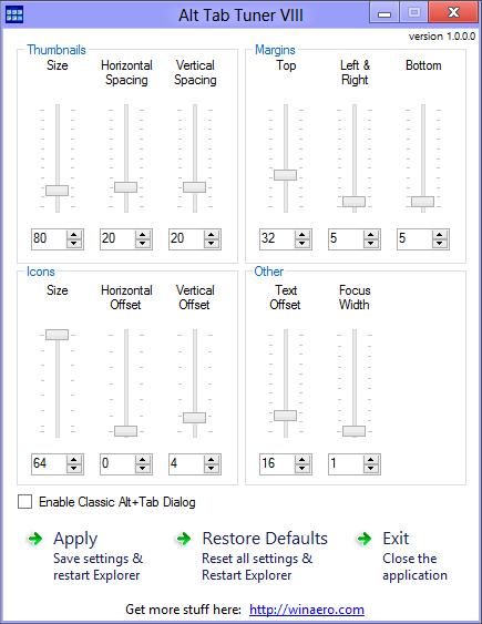 Windows 8 Alt Tab Tuner