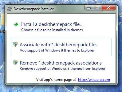 Deskthemepack Installer for Windows 7
