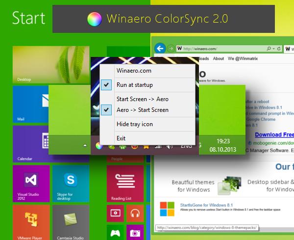 WinaeroColorSync 2.0