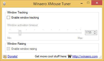 Winaero XMouse Tuner