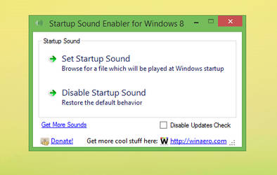 Startup Sound Enabler for Windows 8
