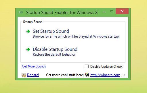 Startup Sound Enabler for Windows 8