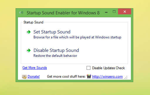 Startup Sound Enabler for Windows 8 by hb860