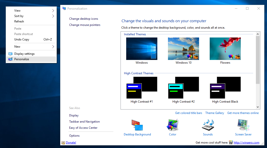 Personalization Panel for Windows 10 by hb860