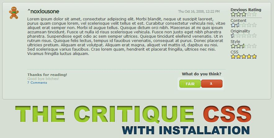 devious Critque CSS by noxiousone