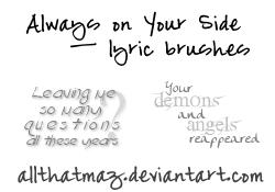 Lyric Brush Stamps by allthatmaz