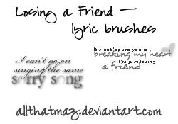 Lyric Brush Stamps 2 by allthatmaz