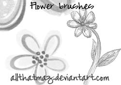 Flower Brush Image Stamps by allthatmaz
