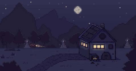 past midnight (pixel animation)