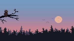 The early bird [pixel animation] by vannbun