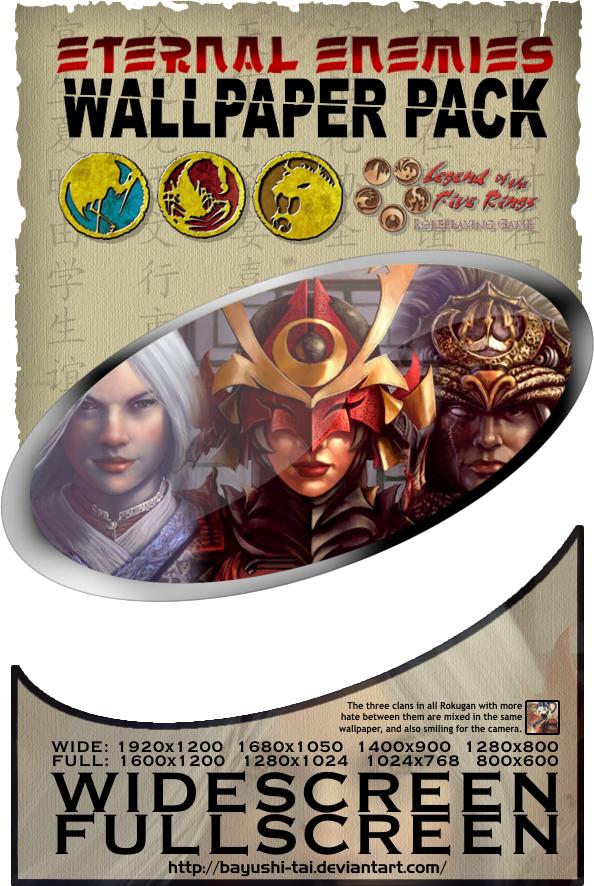 Eternal Enemies Wallpaper Pack by Bayushi-Tai