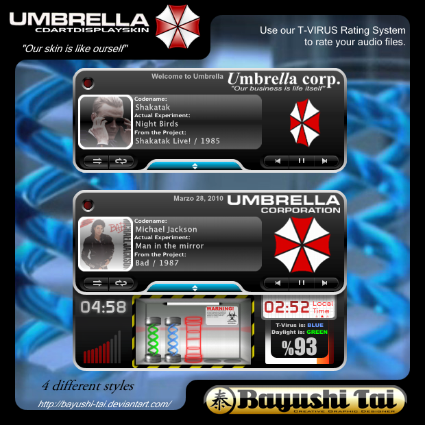 Umbrella Corp. Skin for CAD by Bayushi-Tai