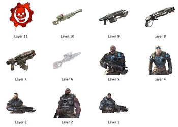 Gears Of War Icons by markdelete