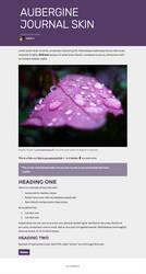Aubergine Journal Skin