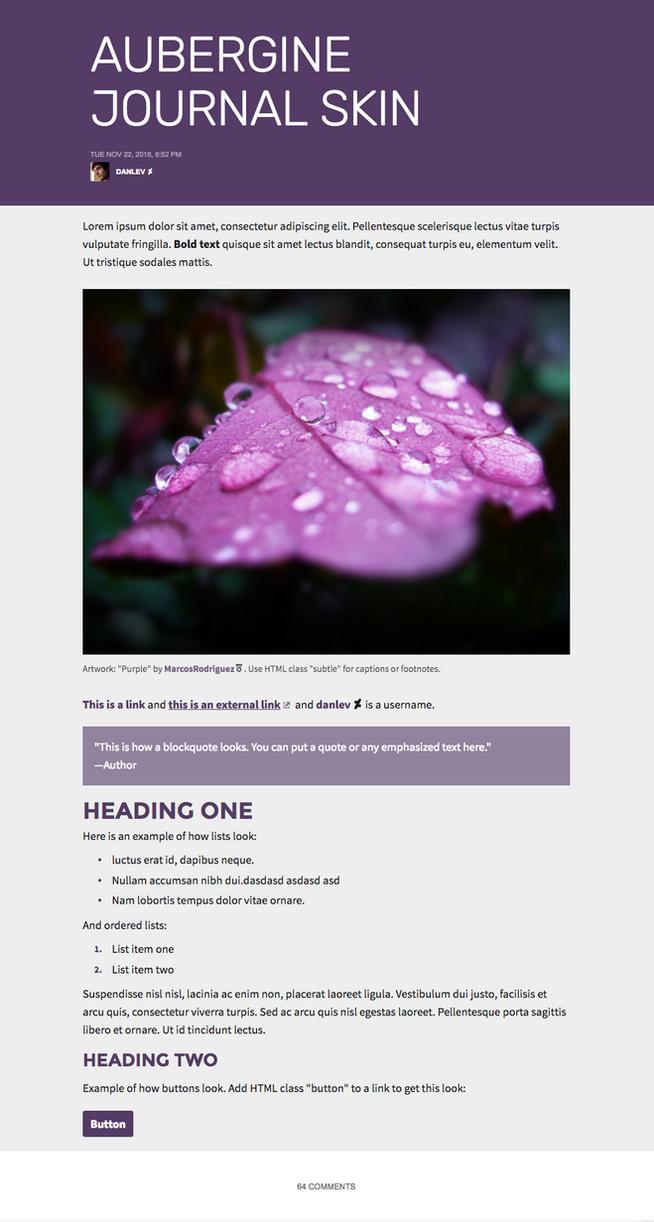 Aubergine Journal Skin by danlev