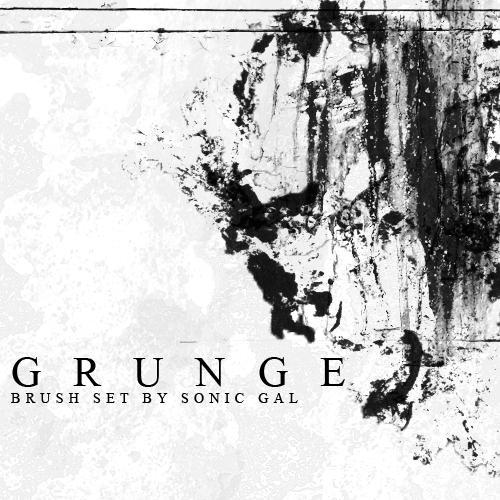 Grunge Brush Set by Sonic-Gal007