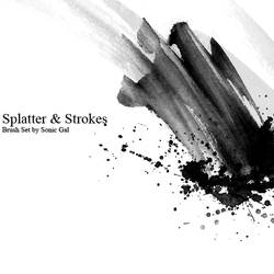 Splatter and Strokes Brush Set