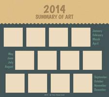 2014 Summary of Art Meme Blank Template by AdriennEcsedi