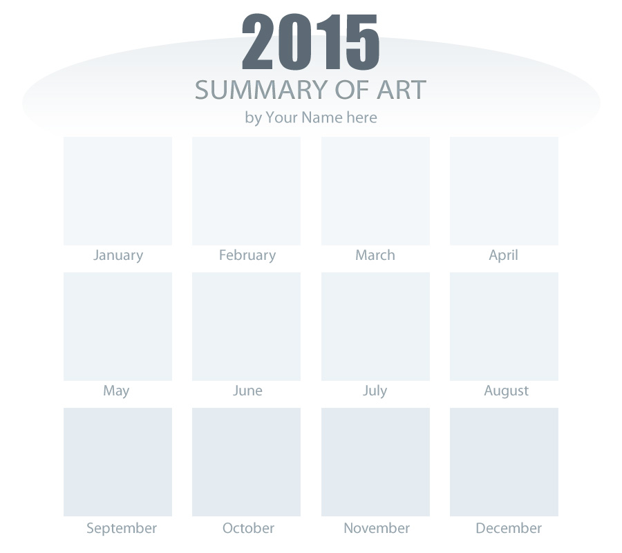 2015 Summary of Art Meme Blank Template by AdriennEcsedi