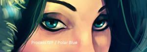 Process gif / Polar Blue by EvilPNMI