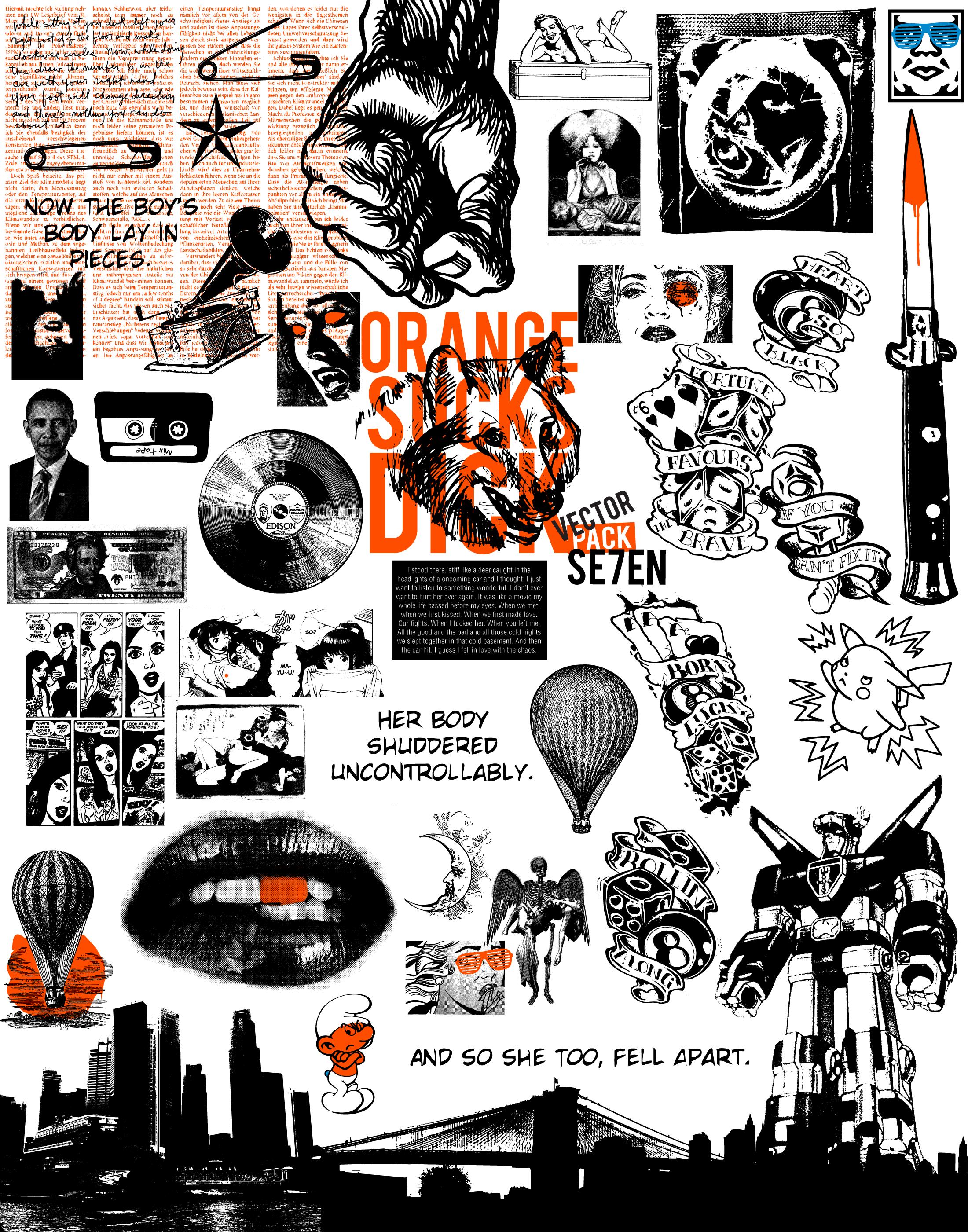 Vector Pack: SE7EN by Jonny-Doomsday