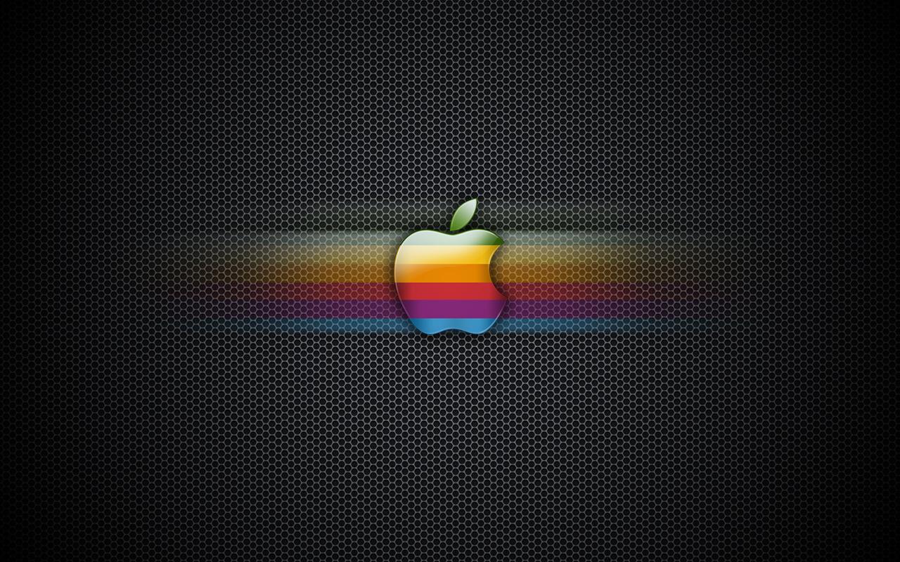 Exagon Rainbow Apple Wallpaper