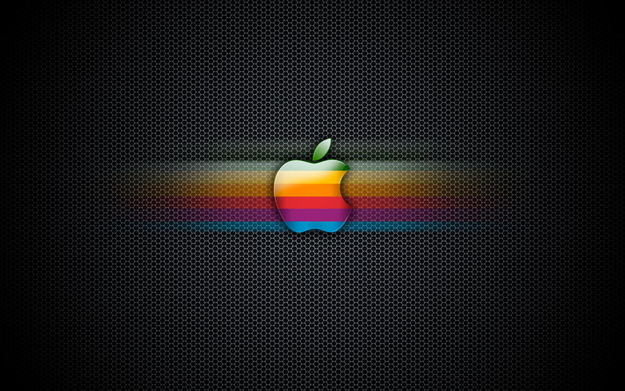Exagon Rainbow Apple Wallpaper by enricoagostoni