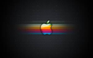 Exagon Rainbow Apple Wallpaper by enricoagostoni