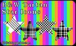 da Icon Pack Black and White Tartan Stars by Bulldoggenliebchen