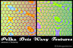 Polka Dots Wavy Textures