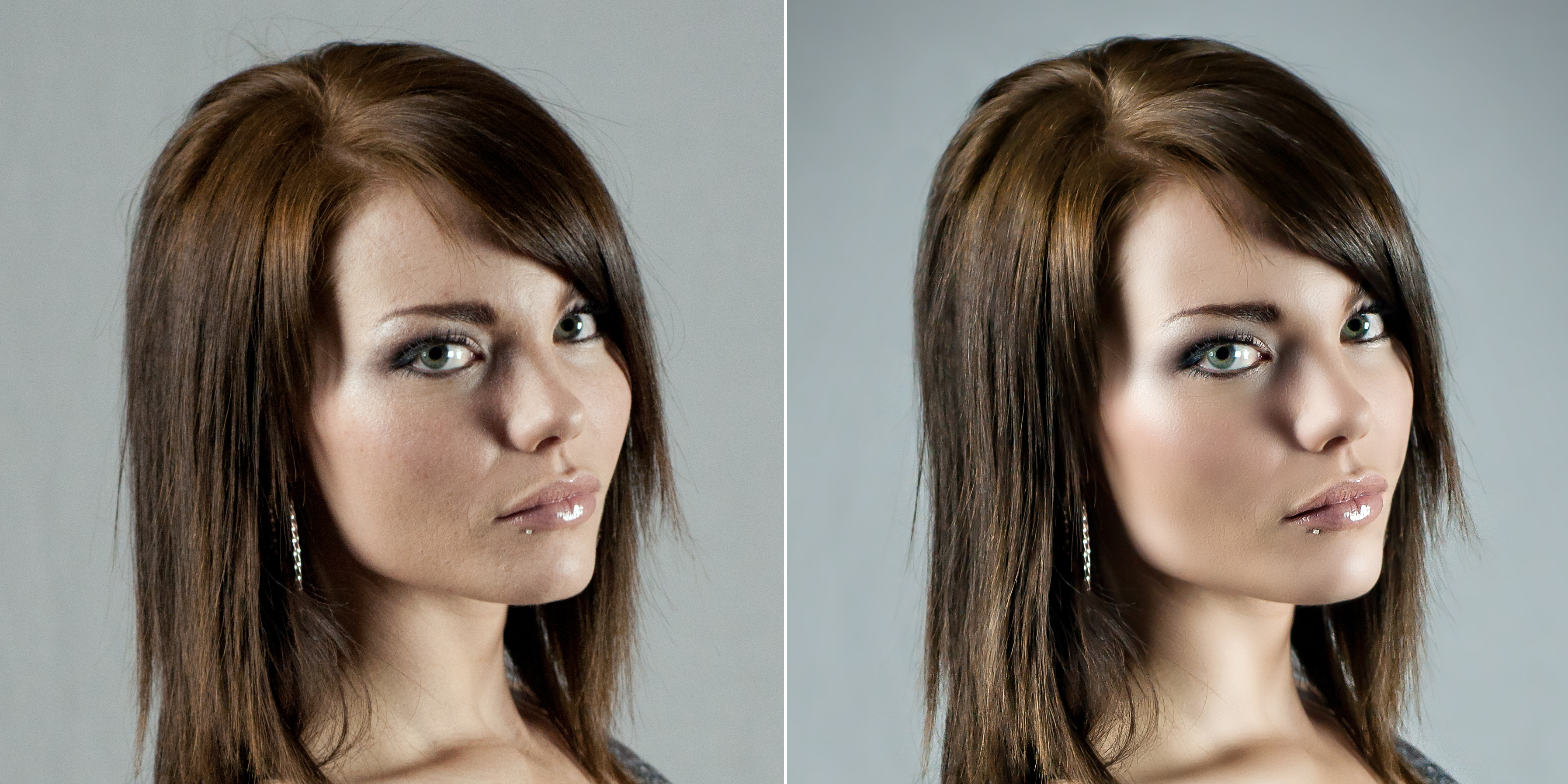 Retouch Hair Color Highlights
