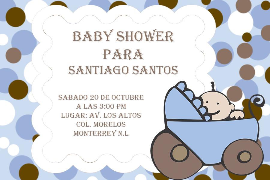 Invitacion Baby Shower Psd Photoshop Editable By Boseuniko