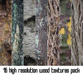16 HIGH RESOLUTION WOOD TEXTURES PACK PART 1 by Wasabi-McFlex