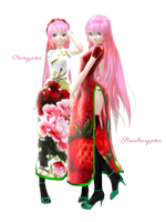 [MMD] TDA Flower and Fruit Luka [DL] by sutoroberikurimu