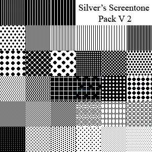 Silver's Screentone Pack V2