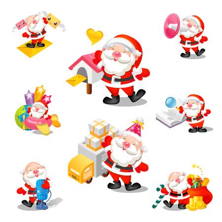 Santa icons by mid-nights