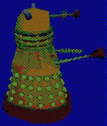 Spinning Technocolor Dalek