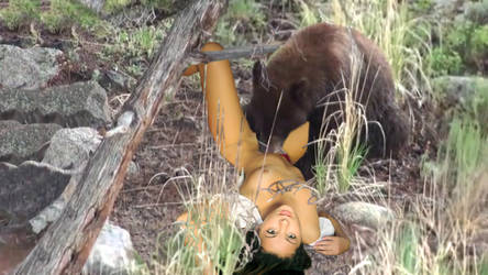 Girl Eaten by Bear - Gory gif Annimation by DarkVore