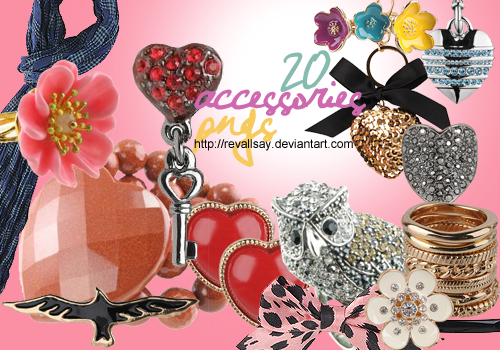 20 Accessories PNGs by revallsay