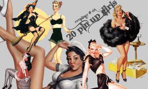 20 Pin Up Girls PNGs