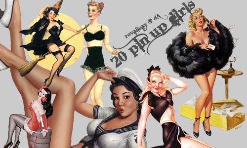 20 Pin Up Girls PNGs by revallsay