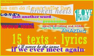 15 texts - lyrics PNGs
