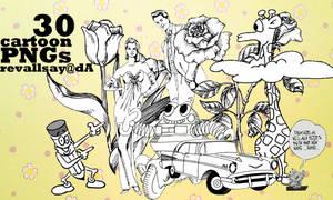 30 cartoon PNGs