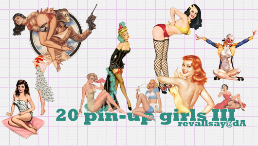 Pin-up girls PNGs III by revallsay