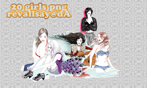 20 girls PNGs by revallsay