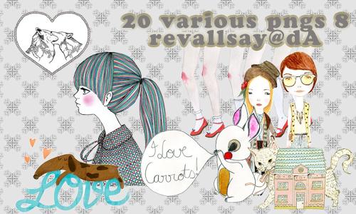 20 various pngs VIII by revallsay