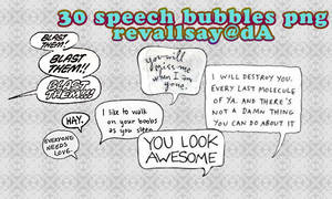 20 speech bubbles pngs