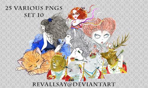 20 various pngs X by revallsay