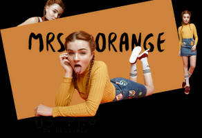 PNG Pack 02 - Mrs. Orange by ohnoesflorence